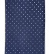 Navy and White Printed Pindot Tie Product Thumbnail 3