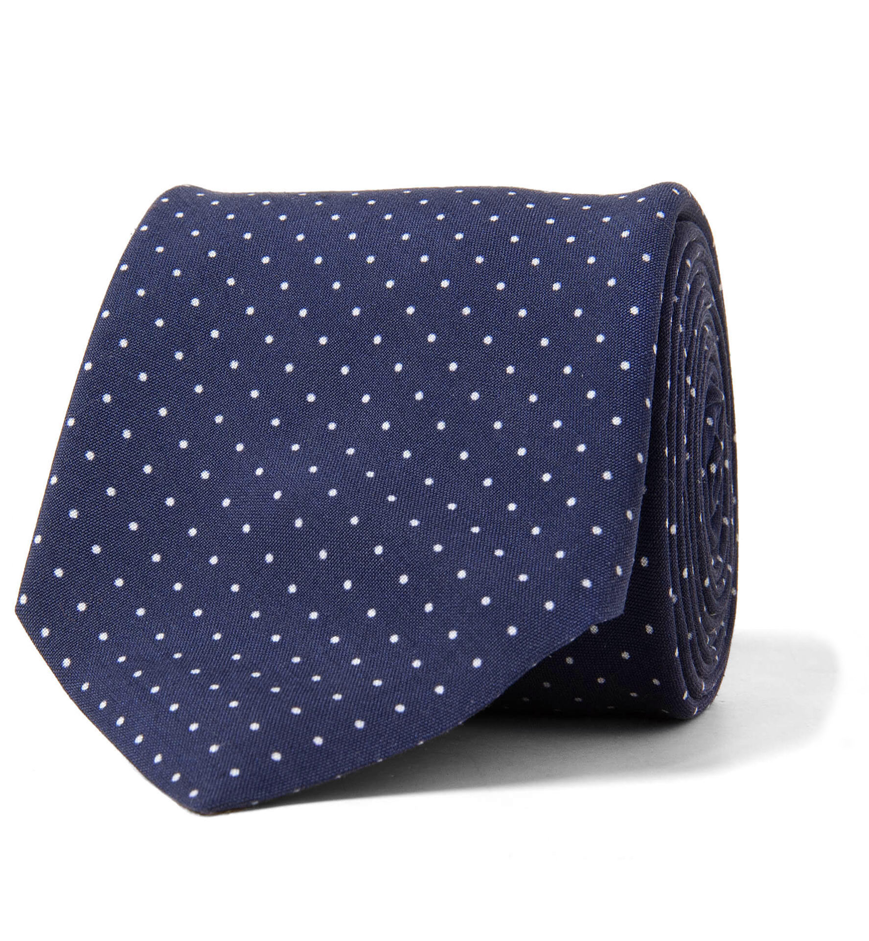 Zoom Image of Navy and White Printed Pindot Tie