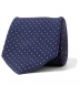Navy and White Printed Pindot Tie Product Thumbnail 1