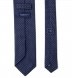 Navy and White Printed Pindot Tie Product Thumbnail 4