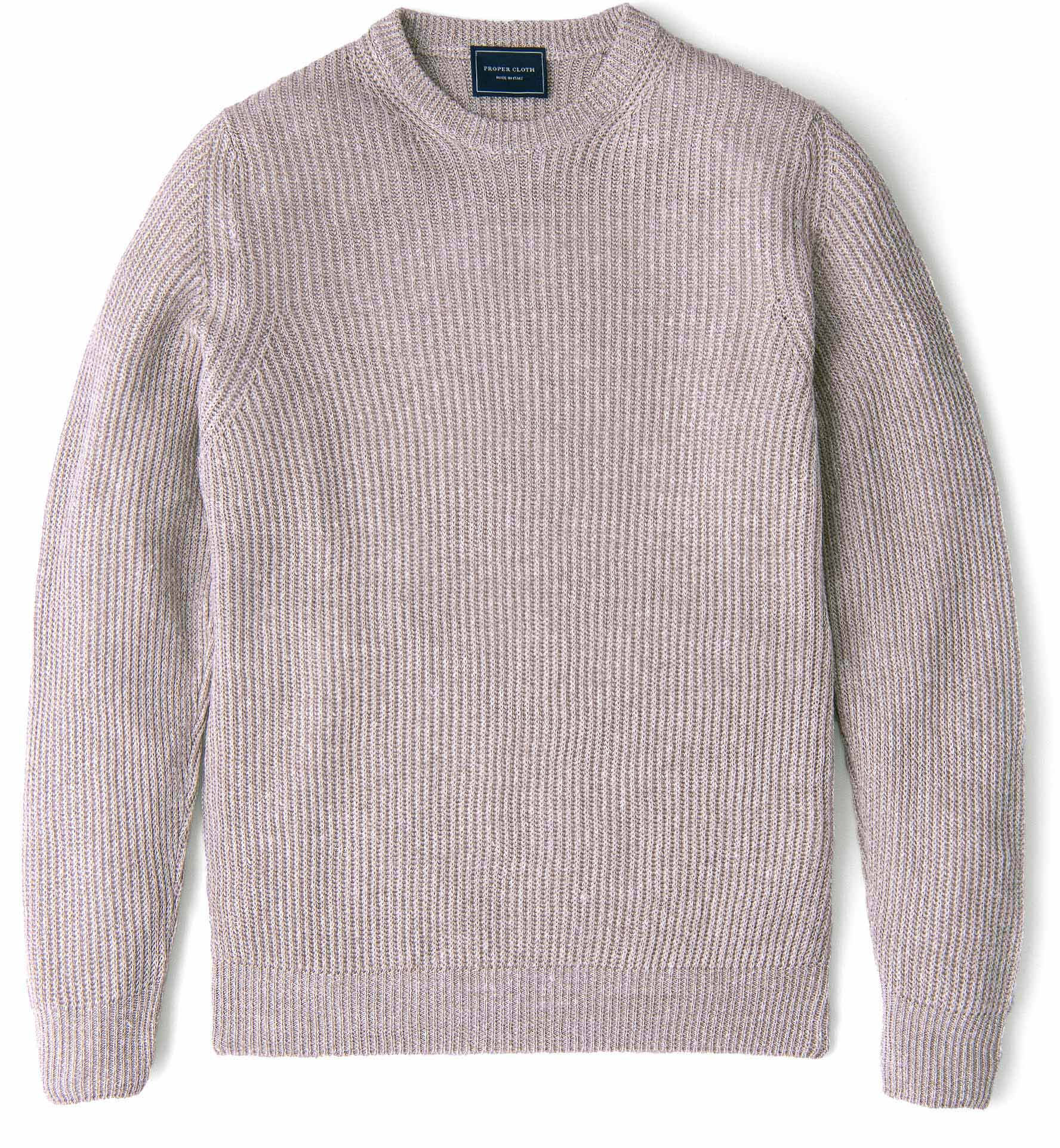 Zoom Image of Amalfi Beige Cotton and Linen Sweater