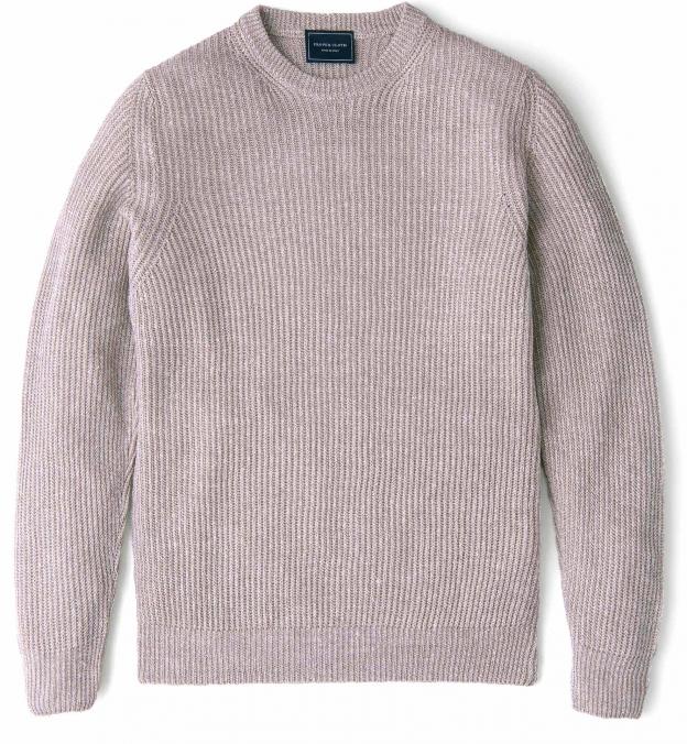 Amalfi Beige Cotton and Linen Sweater