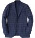 Hudson Navy Windowpane Summer Twill Jacket Product Thumbnail 1