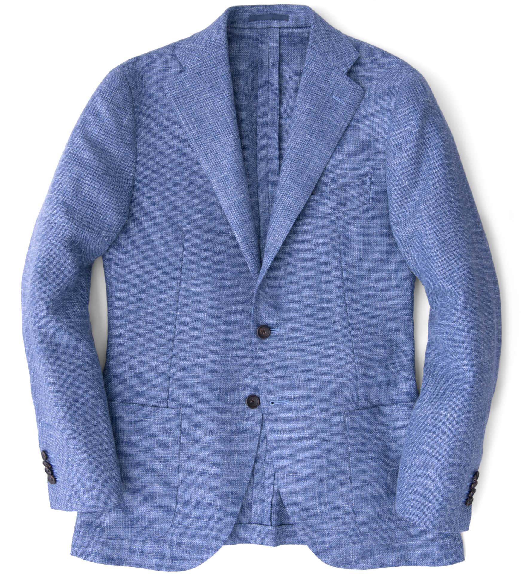 Zoom Image of Hudson Sky Blue Summer Basketweave Jacket
