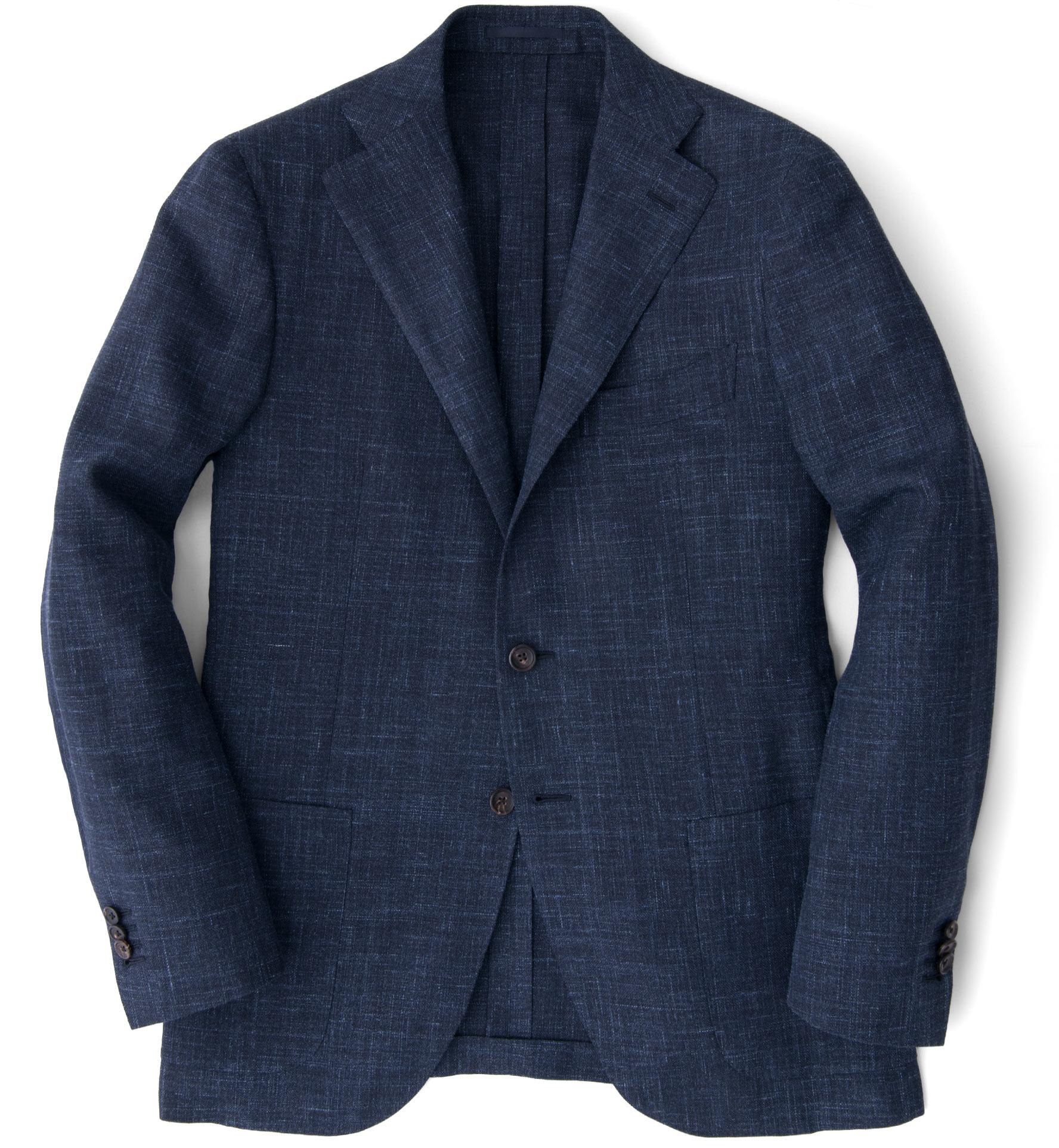 Zoom Image of Hudson Navy Slub Weave Jacket
