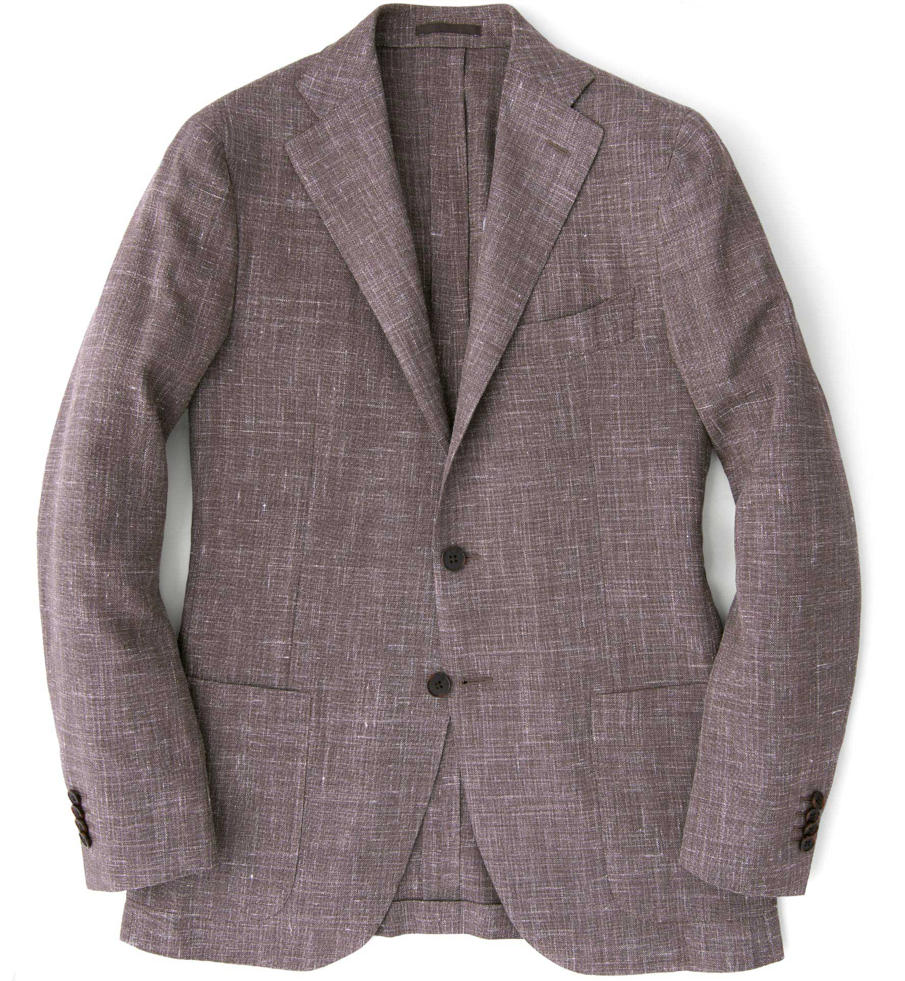 Zoom Image of Hudson Mocha Slub Weave Jacket