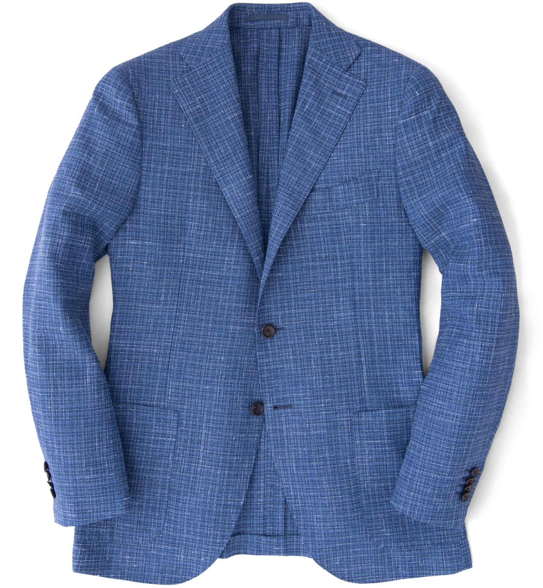 Zoom Image of Hudson Ocean Blue Textured Micro Check Jacket