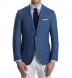 Zoom Thumb Image 1 of Hudson Ocean Blue Textured Micro Check Jacket