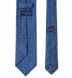 Ocean Blue Grey and Light Blue Small Foulard Print Tie Product Thumbnail 4