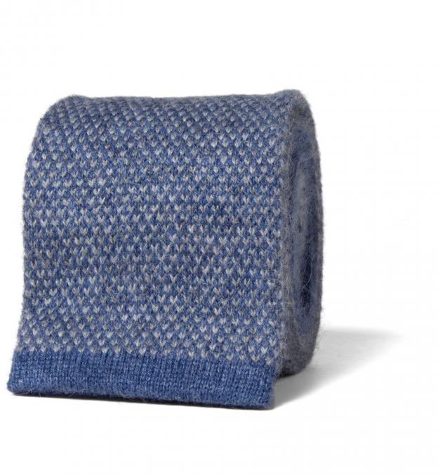 Torino Blue Cashmere Knit Tie