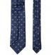 Navy and Grey Silk Foulard Tie Product Thumbnail 4