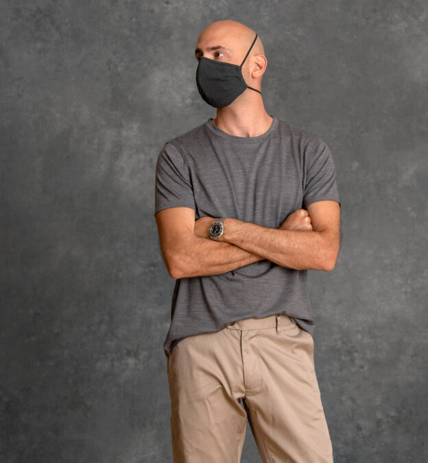 Larger Zoom Image of The Everyday Mask v1.5 - Charcoal Performance (Single Mask)