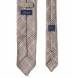 Beige and Light Blue Prince of Wales Linen Tie Product Thumbnail 4