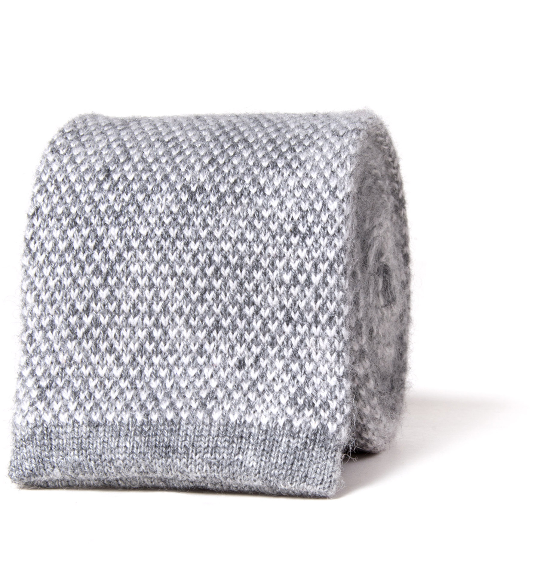 Zoom Image of Torino Grey Cashmere Knit Tie