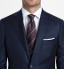 Burgundy and Blue Striped Silk Grenadine Tie Product Thumbnail 5