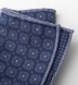 Navy Printed Cotton and Wool Square Product Thumbnail 2