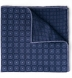 Navy Printed Cotton and Wool Square Product Thumbnail 1
