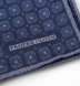 Navy Printed Cotton and Wool Square Product Thumbnail 3