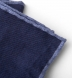 Navy Melange Wool and Cotton Pocket Square Product Thumbnail 3