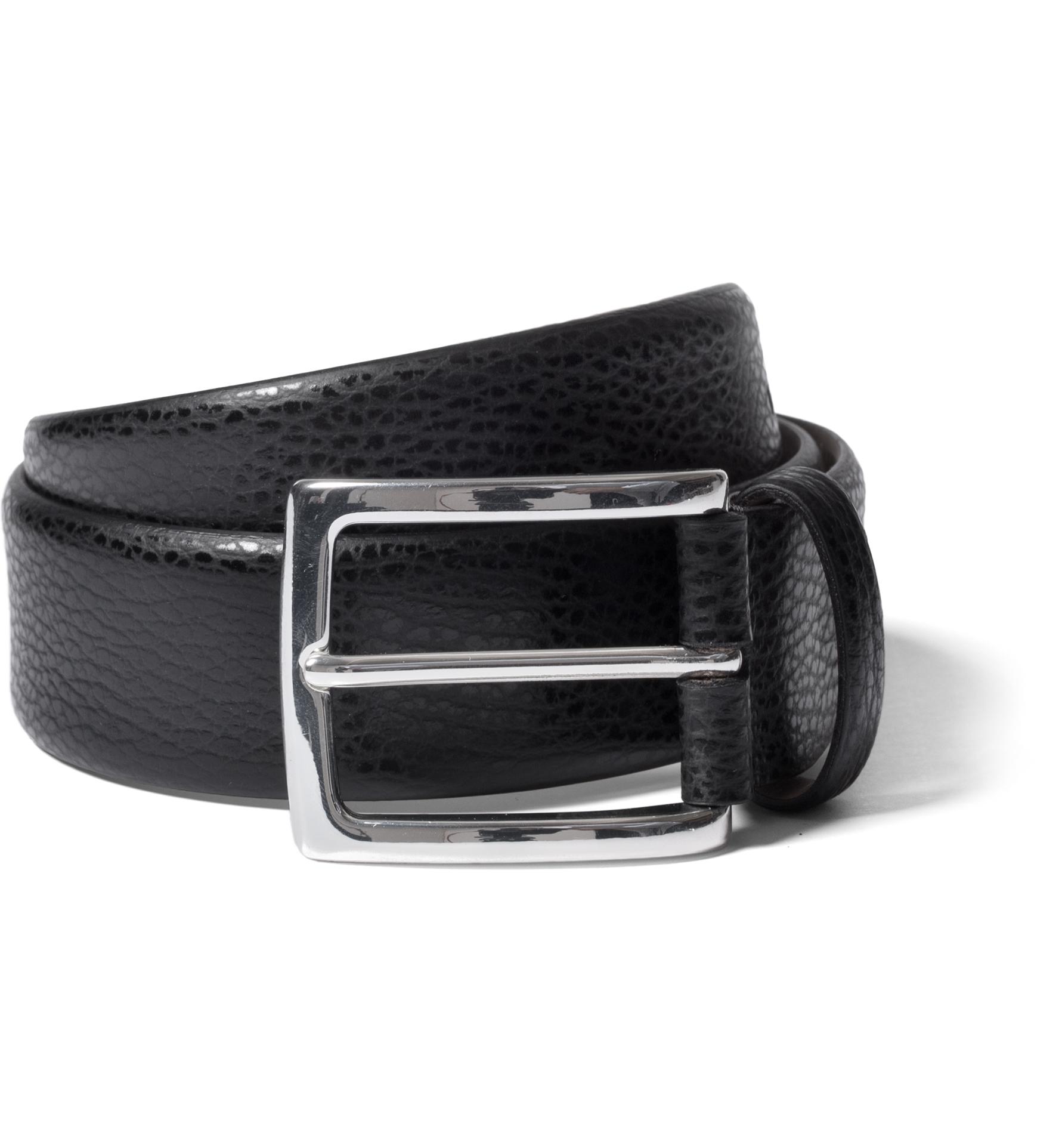 Zoom Image of Black Pebble Grain Leather Belt