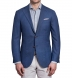 Zoom Thumb Image 1 of Hudson Ocean Blue Melange Wool Hopsack Jacket