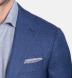 Zoom Thumb Image 2 of Hudson Ocean Blue Melange Wool Hopsack Jacket