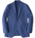 Zoom Thumb Image 6 of Hudson Ocean Blue Melange Wool Hopsack Jacket