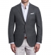 Zoom Thumb Image 1 of Hudson Grey Melange Wool Hopsack Jacket