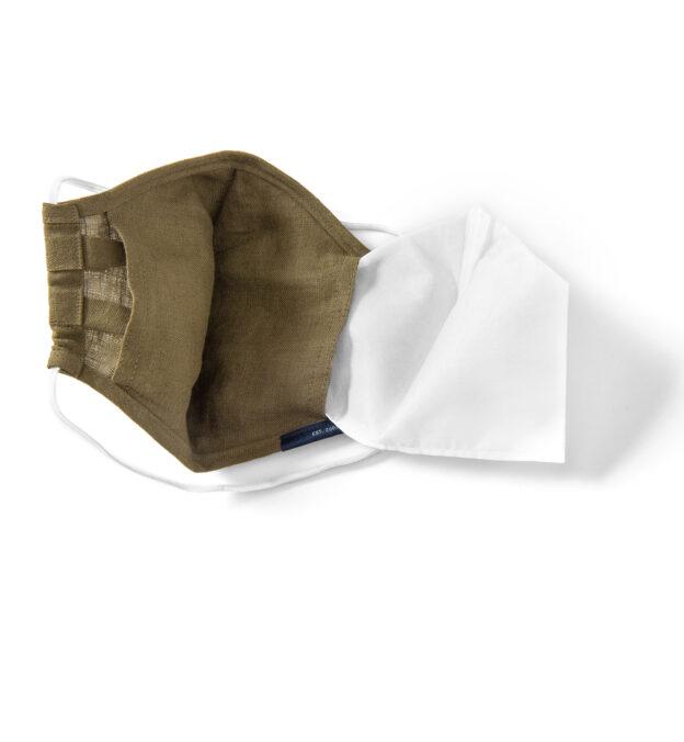 Larger Zoom Image of The Everyday Mask v1.3 - Olive Linen (Single Mask)