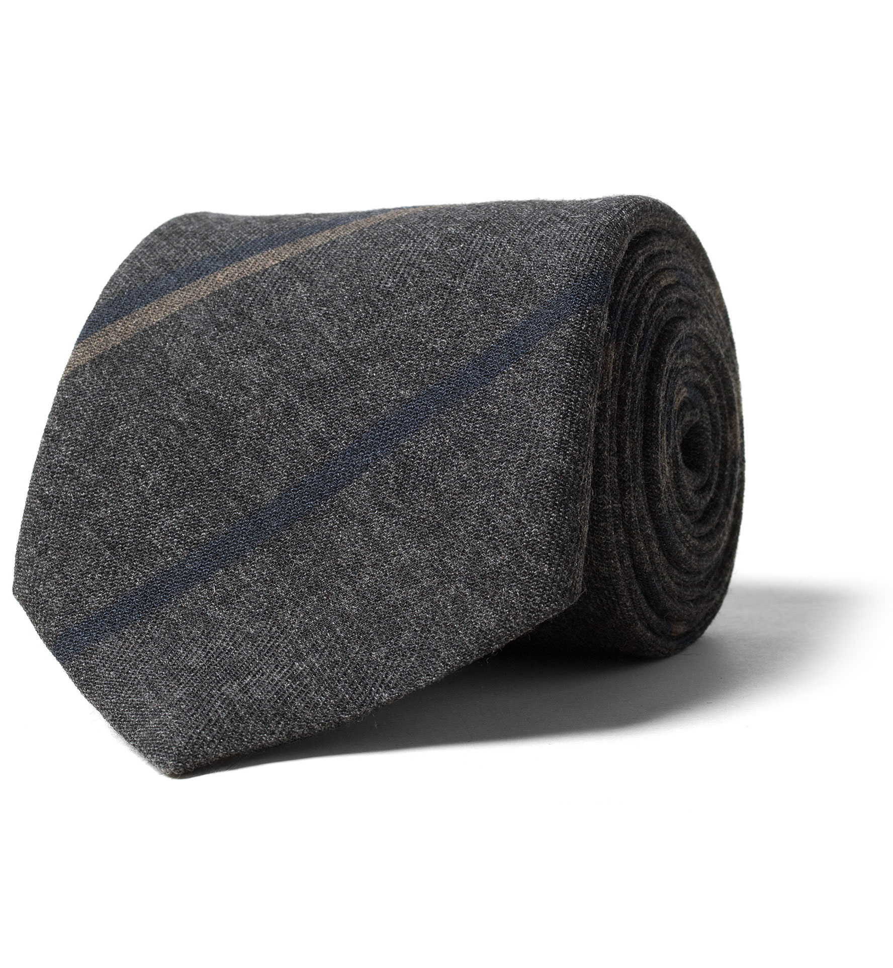 Zoom Image of Grey and Navy Striped Wool Tie