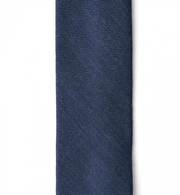 Ocean Blue Wool Flannel Tie