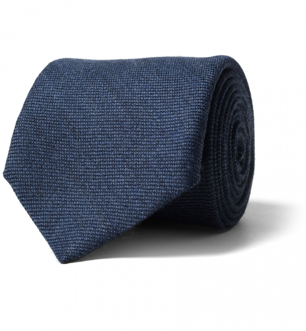 Ocean Blue Wool Flannel Tie
