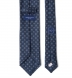 Navy and Light Blue Foulard Wool Tie Product Thumbnail 4