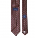 Scarlet and Grey Foulard Print Wool Tie Product Thumbnail 4