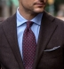 Scarlet and Grey Foulard Print Wool Tie Product Thumbnail 5
