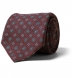 Scarlet and Grey Foulard Print Wool Tie Product Thumbnail 1