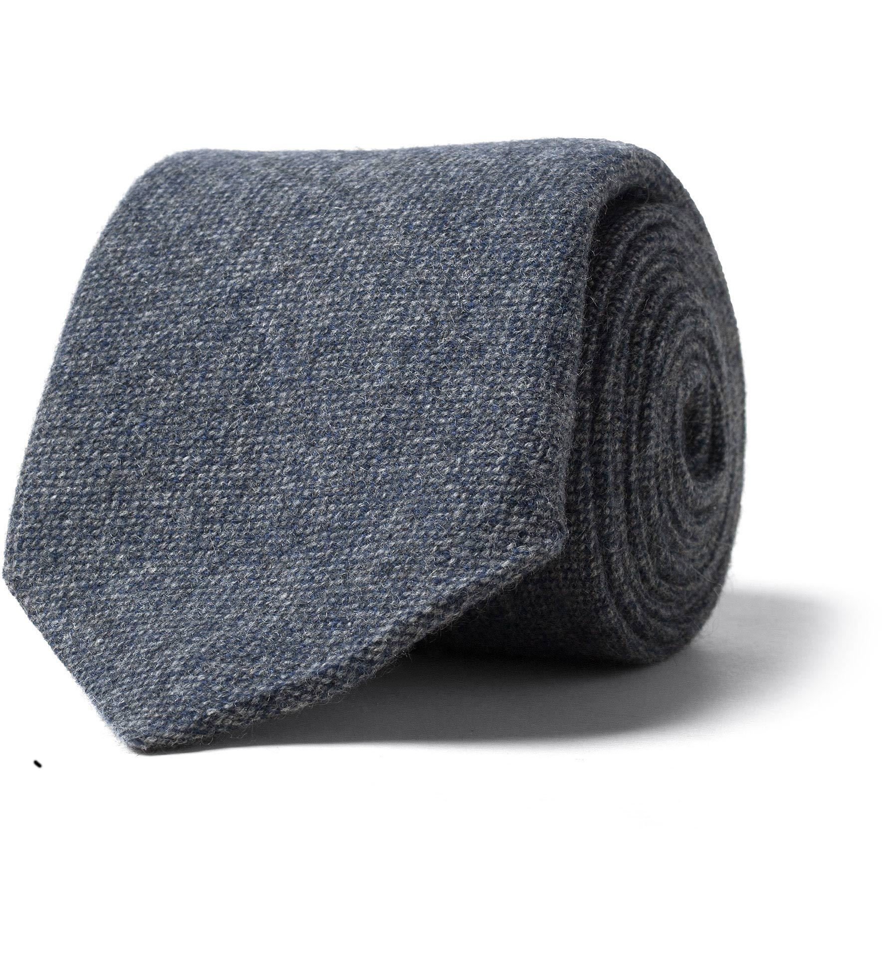 Zoom Image of Slate Pure Cashmere Tie