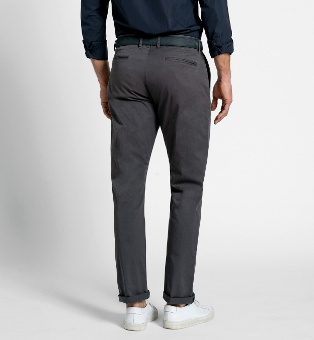 Bowery Charcoal Stretch Cotton Chino