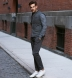 Bowery Charcoal Stretch Cotton Chino Product Thumbnail 7