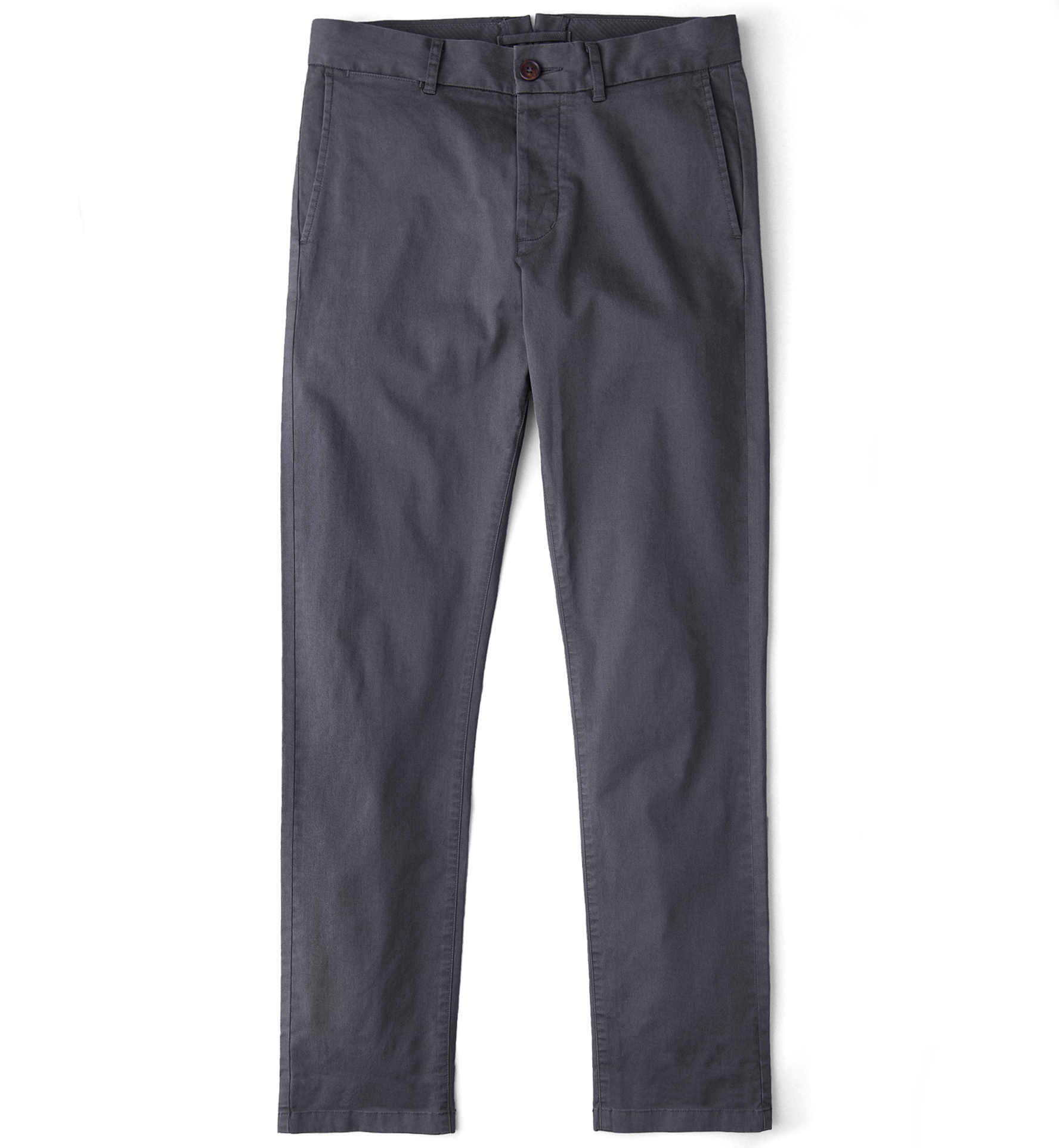 Zoom Image of Bowery Charcoal Stretch Cotton Chino