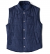 Zoom Thumb Image 7 of Cortina I Navy Textured Flannel Snap Vest