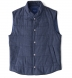 Cortina I Slate Blue Flannel Snap Vest Product Thumbnail 1