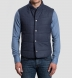 Cortina I Slate Blue Flannel Snap Vest Product Thumbnail 6