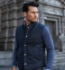 Cortina I Slate Blue Flannel Snap Vest Product Thumbnail 7