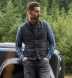 Zoom Thumb Image 6 of Cortina I Charcoal Flannel Button Vest