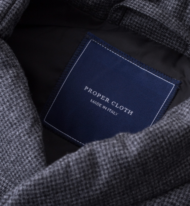 Cortina I Grey Houndstooth Flannel Snap Vest