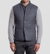 Cortina I Grey Houndstooth Flannel Snap Vest Product Thumbnail 6