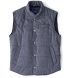 Cortina I Grey Houndstooth Flannel Snap Vest Product Thumbnail 1