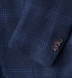 Zoom Thumb Image 3 of Hudson Navy and Blue Check Textured Wool Jacket