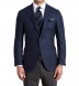 Zoom Thumb Image 1 of Hudson Navy Wool and Cashmere Flannel Hopsack Jacket